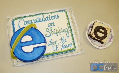 IE团队为Firefox赠送蛋糕