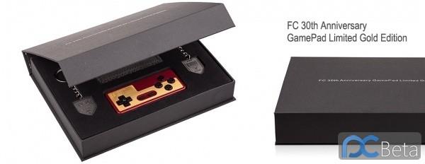 任天堂红白机30周年限定版纯金手柄亮相