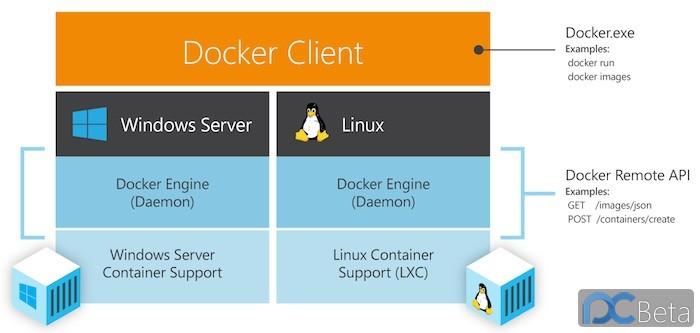 DockerWithWindowsSrvAndLinux