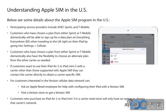 苹果公司内部文件详细介绍Apple SIM卡特点
